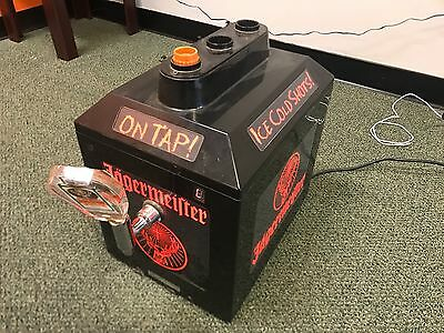 Jagermeister 3 Bottle Ice Cold Shots Tap Machine Bar Man Cave JAGER USED