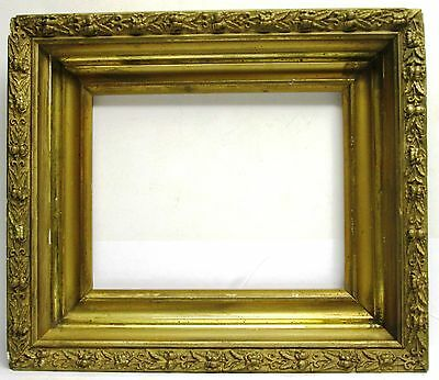 """Gold Painted and Gilt Gesso Picture Frame (9.75x7.75"""" int dim)"""