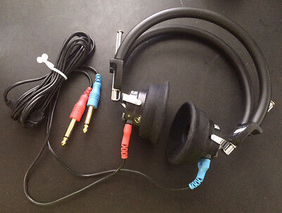 NEW TDH 39 10 Ohm HEADPHONES, COMPLETE HEADSET FOR AUDIOMETER