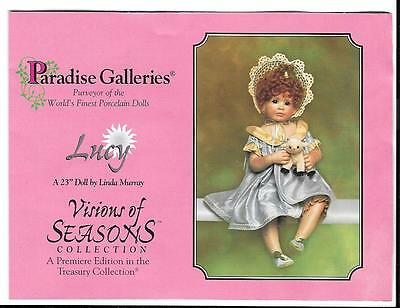 "23"" Paradise Galleries -Visions of Seasons - Lucy - By Linda Murry - Porcelain"