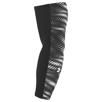UNDER ARMOUR MENS COMPRESSION ARM SLEEVE (One Sleeve) BLACK WHITE SMALL MEDIUM