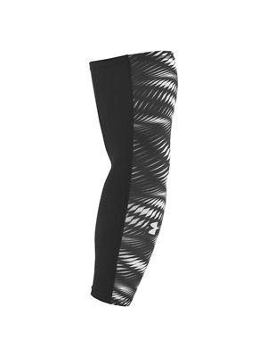 UNDER ARMOUR MENS COMPRESSION ARM SLEEVE (One Sleeve) BLACK WHITE LARGE X-LARGE