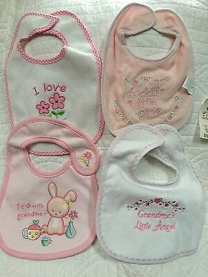 Infant girls lot of bibs brand new with tags