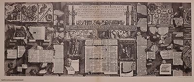 ANTIQUE PIRANESI PRINT 100 YEARS OLD from VIEWS of ROME CONSULAR OF ROMANS