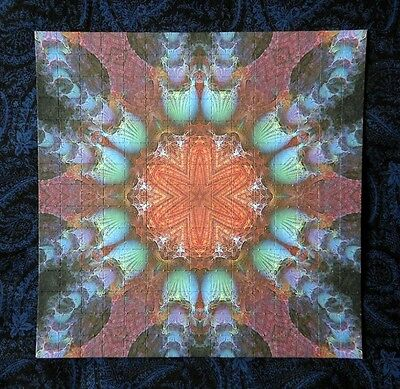 """Blotter Art """"Cosmic Flower"""" Psychedelic Collection Perforated Print Paper"""