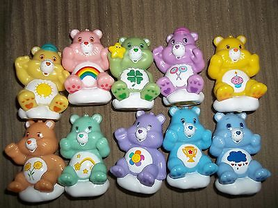 lot of 10 Care Bears on clouds Figurines