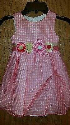 Spring Easter Wedding Formal Toddler Girls Dress Melon  Size 2T