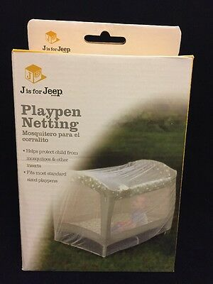 Jeep Baby Playpen Netting, Universal Size, White, Pack N Play Mosquito Net Tent,