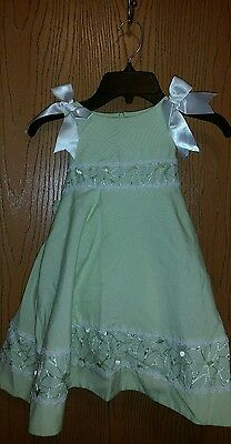 Spring Easter Wedding Formal Toddler Girls Dress Green Size 2T