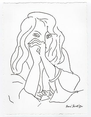 """Henri Matisse """"Portrait of a Woman"""" Drawing - Registered"""