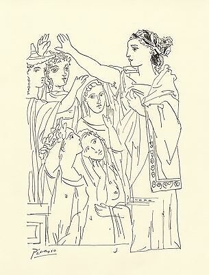 """Pablo Picasso Pen and Ink Drawing """"Lysistrata"""""""