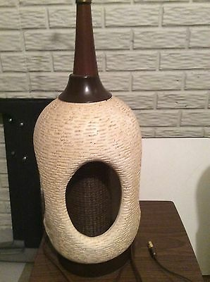 Mid Century Modern Ceramic Lamp...Very Large and Excellent Condition
