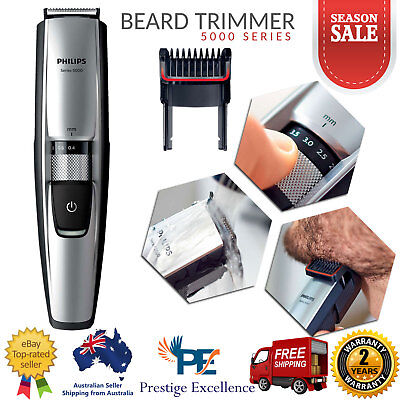 Philips Rechargeable Cordless Beard Trimmer Men Clipper Shaver Body Hair Groomer