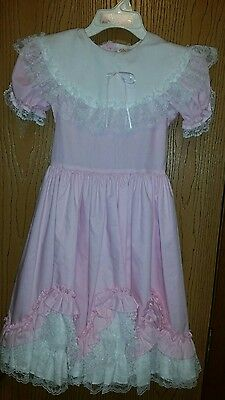 Lid'l Dolly Girls Pink Flower Girl Easter Dress Size 8 wedding pageant
