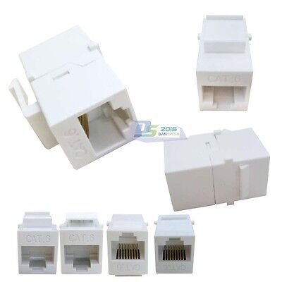 5xRJ45 Cat6 Female-Female Network Keystone Insert Wall Plate Adapter Jack Useful