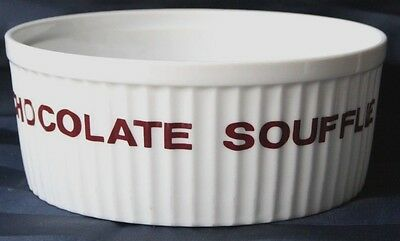 "Retro Vintage Chocolate Souffle Recipe Dish Bake Serve Made in Japan 7.5"" 19 cm"