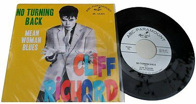 "CLIFF RICHARD -""NO TURNING BACK"" b/w ""MEAN WOMAN BLUES"" GREAT BRITISH ROCKERS!"
