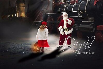 Digital backdrop POLAR EXPRESS Photography Backgrounds Photo overlay Photoshop