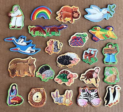 Set of 22 Noah's Ark Fridge Magnets - Animals, Peace Dove - Christian Magnets