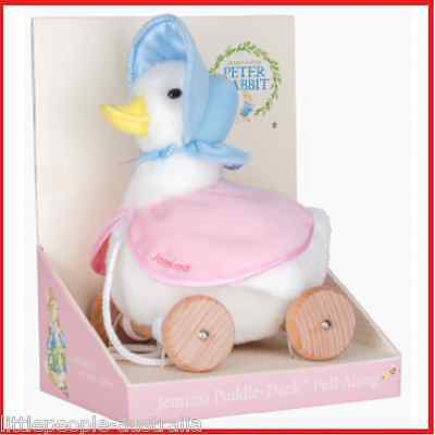 Jemima Puddle-Duck Pull Along Peter Rabbit Plush Toys NEW
