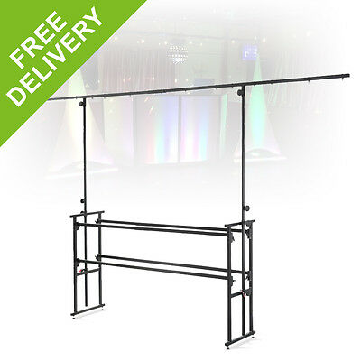 Ekho EDJ-6T Steel Mobile DJ Stand Lighting Rig Shelving Truss Portable Booth 6ft