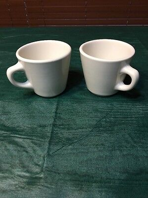 Homer Laughlin Best China White Restaurant Diner Coffee Cup Mug Set Of 2