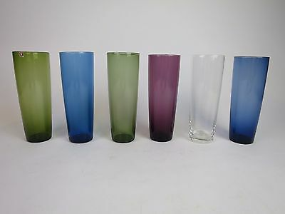 Tapio Wirkkala IITTALA Vintage Coloured Juice Glass Set of 6 Finland 1950´s