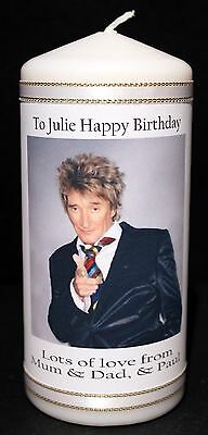 Personalised Rod Stewart Candle Memorabilia Keepsake Gifts Birthday Present  #1