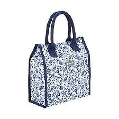 Kitchen Craft Cool Movers 4Ltr Tote Cool Bag Blue Flowers