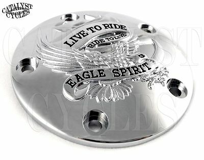 Drag 0940-0841 Chrome Live To Ride Points Timing Cover Harley Twin Cam 99-17