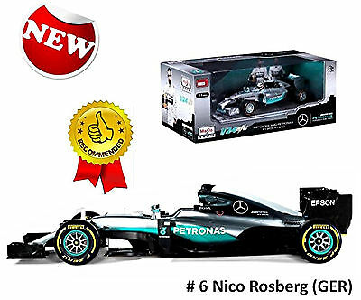 Mercedes F1 W07 Hybrid #6 Nico Rosberg GP 2016 World Champion 1:18 Bburago