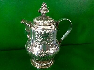 Georgian Antique English Sterling Silver Lidded Milk Wine Jug Hennell 1822