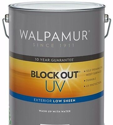 Walpamur Low Sheen Uv Exterior 10L  Paint Tinted To Monument Can Freight