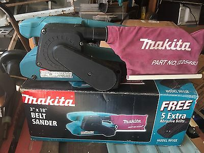 "Makita Belt Sander 3""X18"" Model 9910X & Dust Bag"