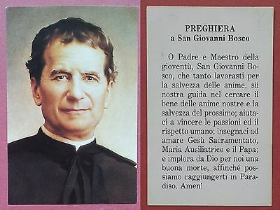 Santino Holy Card:  San Giovanni Bosco