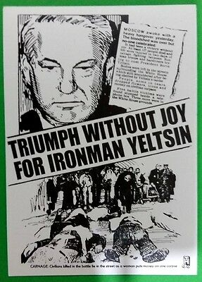 Headline postcard: Triumph without joy for ironman Yeltsin 6th October 1993.