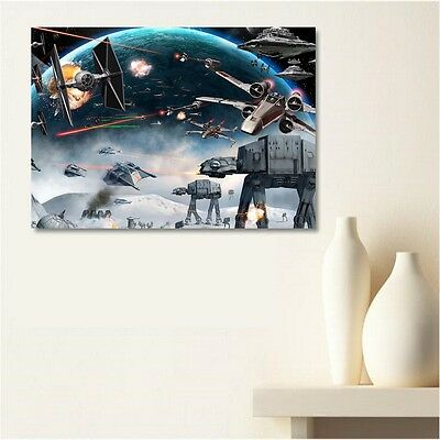 tableau toile canvas prix discount star wars guerre 50x70. Black Bedroom Furniture Sets. Home Design Ideas
