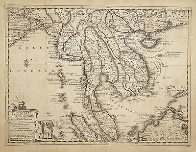 Extremely rare map of Asia c1730 by Pieter van der Aa