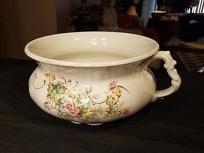 Hand painted Antique Chamber Pot ( Alliance )