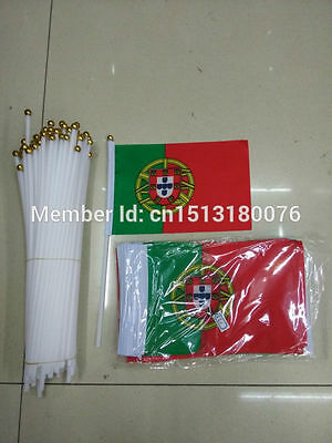 Portugal Free shipping 14 * 21cm hand wave flags100pcs