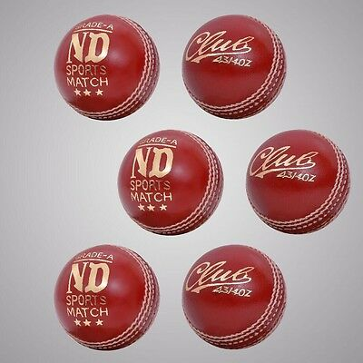 New County Cricket Ball Grade A Senior Mens Official Ball Pack of 6 Weight 5.5oz