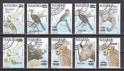 NAMIBIA - 2005 - Flowers & Animals, opt. Complete set, 10v. First day stamp