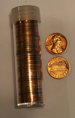 1970 S 1c Proof Lincoln Cent Penny Roll 50 Coins