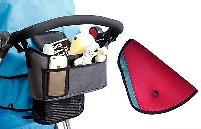 Stroller Organizer - Universal fit with Adjustable Straps with FREE Car S... NEW