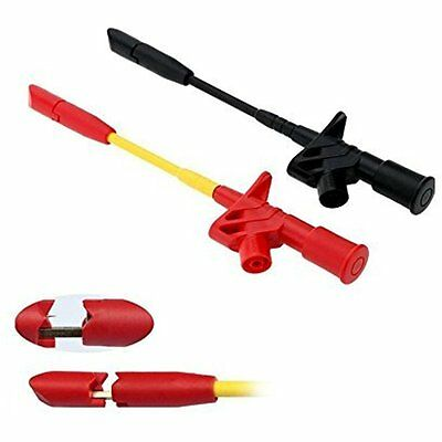 Heavy Duty Test Probes Leads Insulation Piercing Test Clip, Fully Insulated Test
