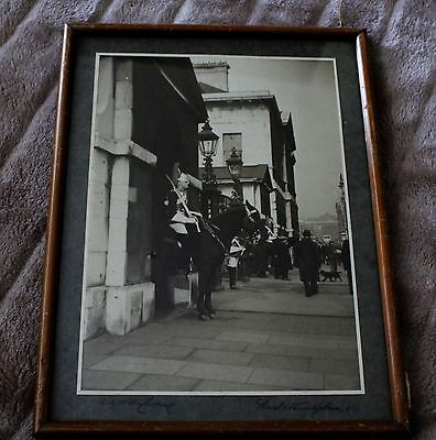 Lot 3 Original signed Gladstone Adams guard on horse photo Whitley Bay
