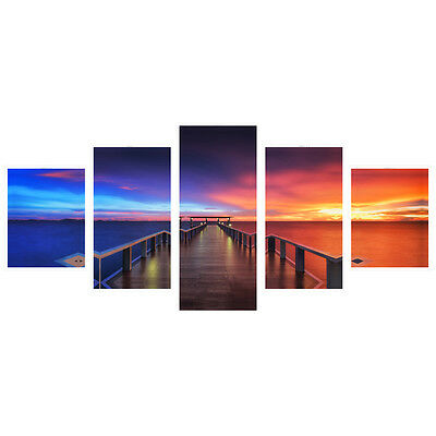 Colorful Landscape HD Photo Canvas Poster Print Bridge Art Home Décor No Frame