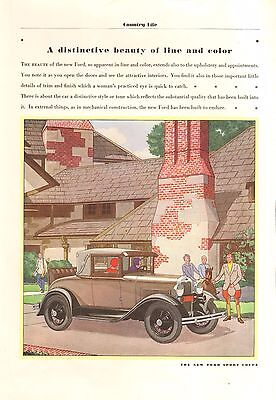 Model A Ford  Sport Coupe   Orig Vintage  Ad