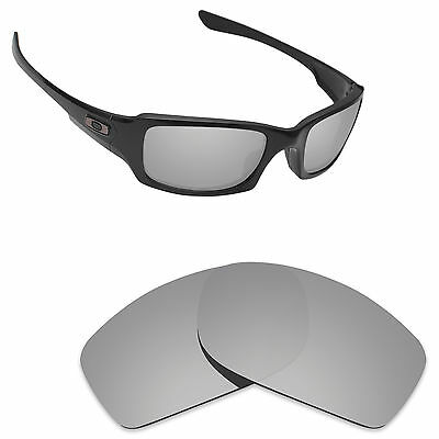 Newest Replacement Lenses for-Oakley Fives Squared Silver Titanium Polarized
