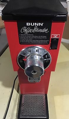 Bunn G1 Hd Red Bulk Coffee Grinder 1 Lb In Perfect Condition. Very Little Used.